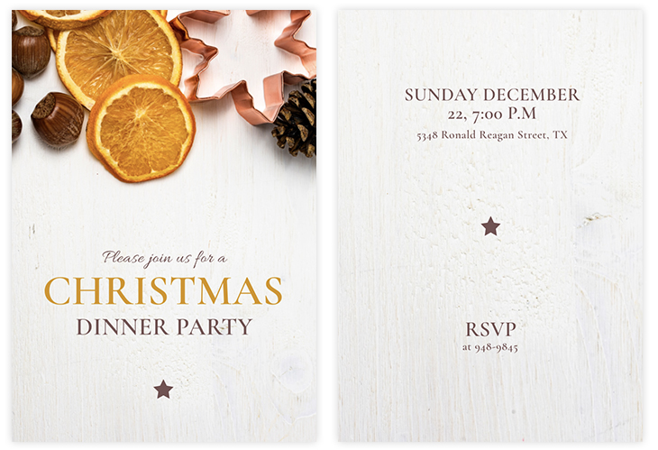Classic Christmas Dinner Invitation Template