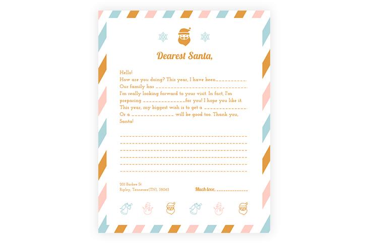 Free Online Santa Letter Template