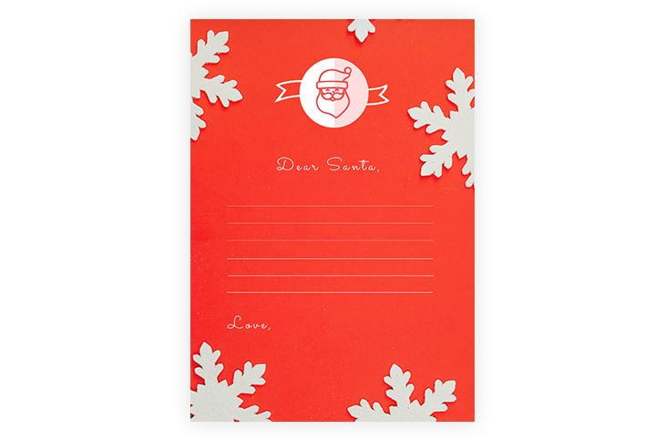 Printable Blank Santa Letter Template