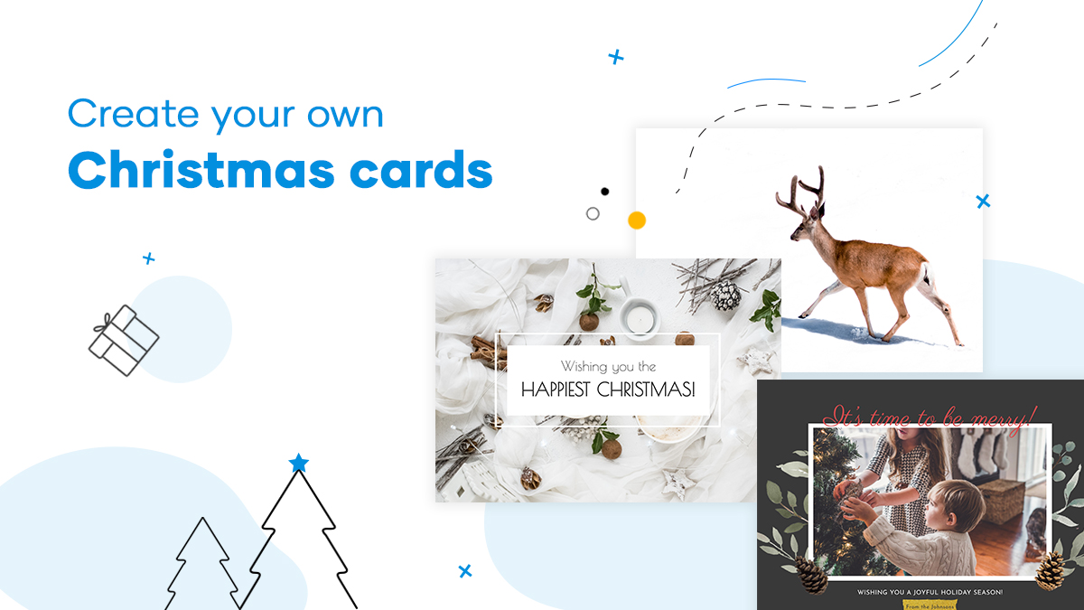 how to make your own Christmas Cards in Flipsnack
