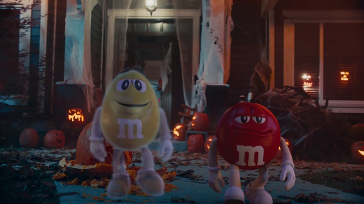 M&M Halloween Ad
