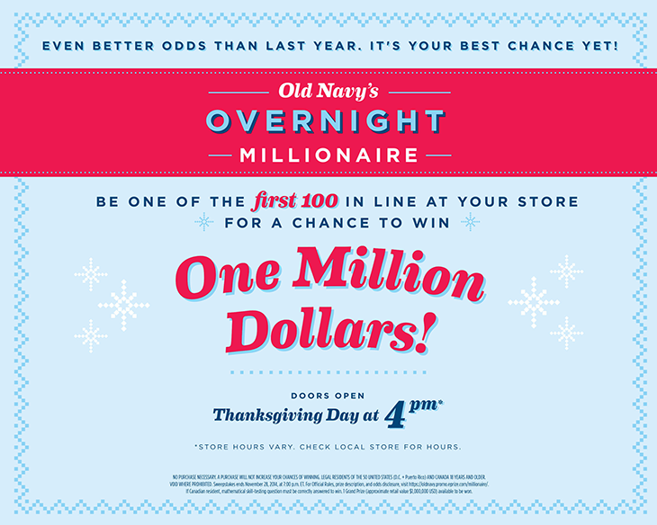 Old Navy giveaway part of their holiday marketing strategy