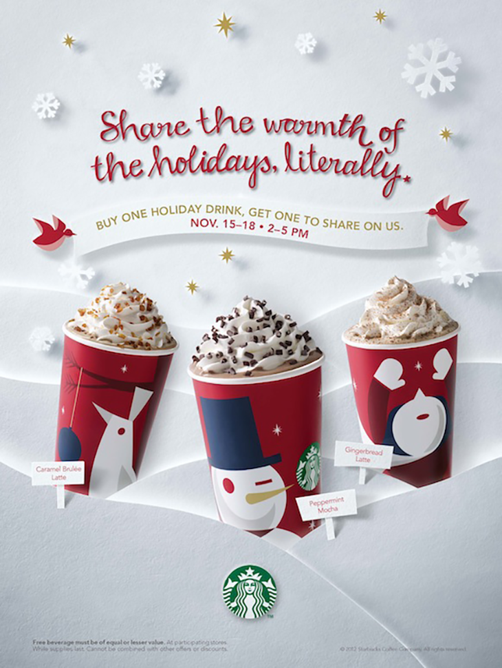 Starbucks holiday marketing campaign example