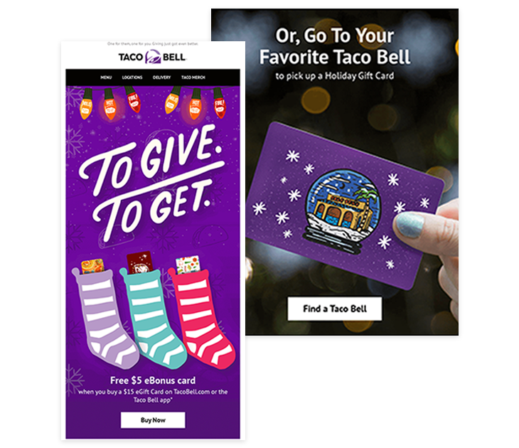 Taco Bell email marketing example
