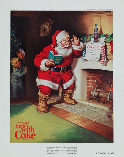 Santa claus Coca Cola holiday marketing campaigns