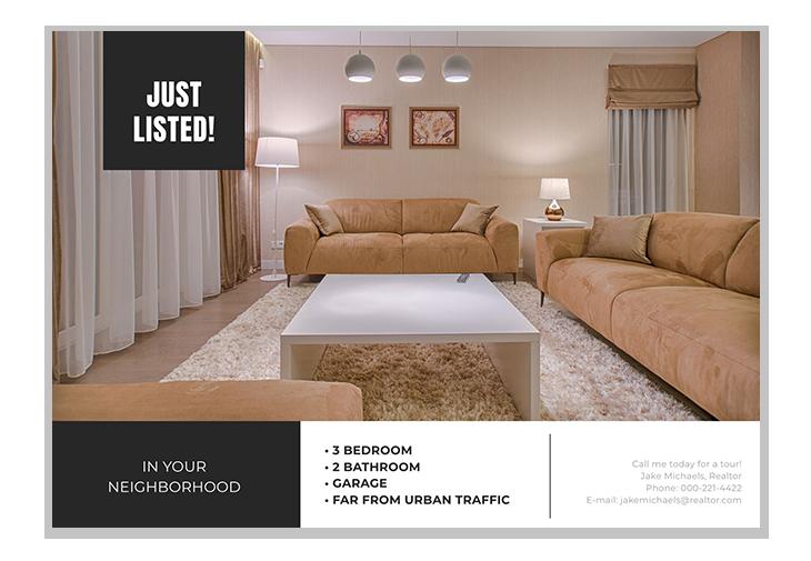 real estate postcard ideas second template
