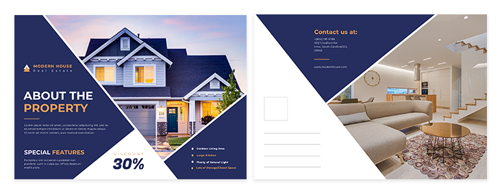 real estate postcard ideas fifth template