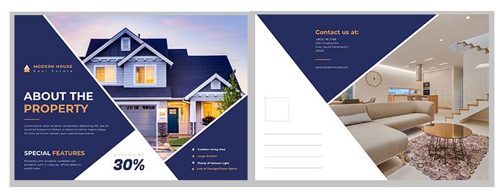 real estate postcard ideas fifth template