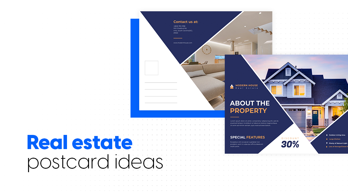 cover real estate postcard ideas
