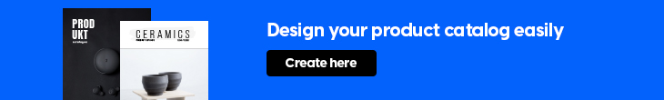flipsnack banner for creating a product catalog