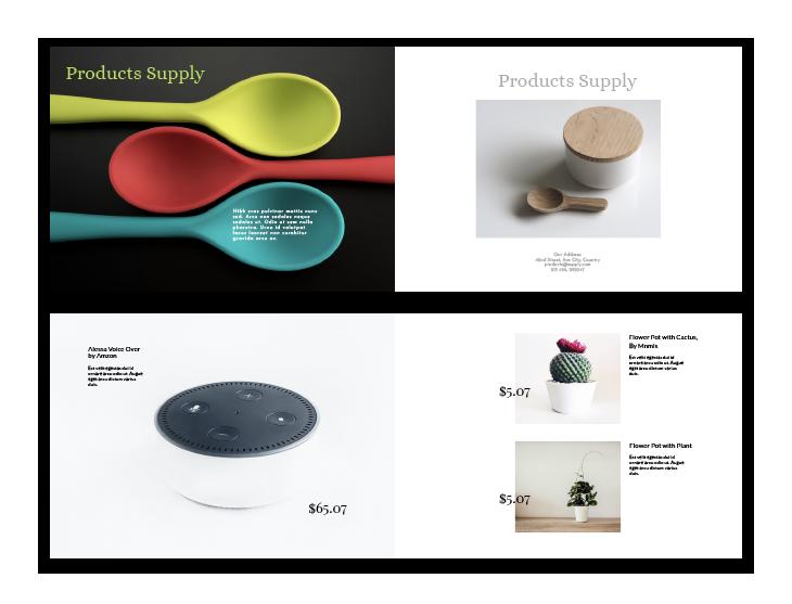 simple design product catalog template