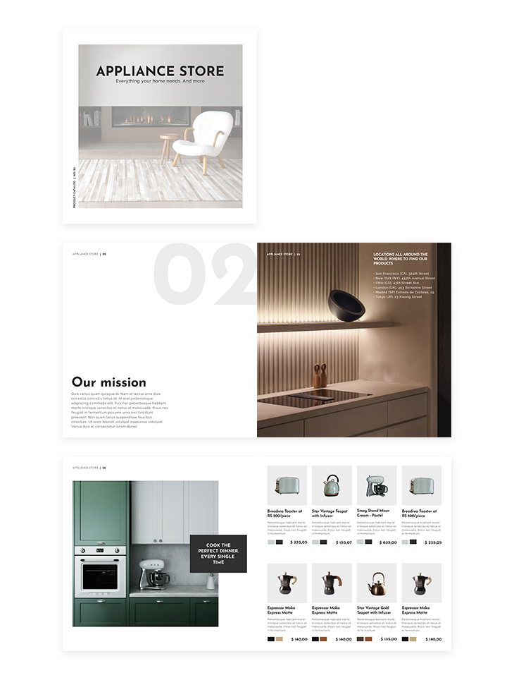 appliance store catalog  made in Flipsnackt