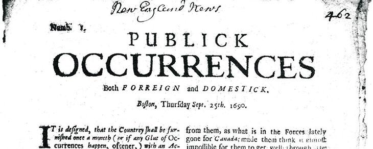 the first true American newspaper