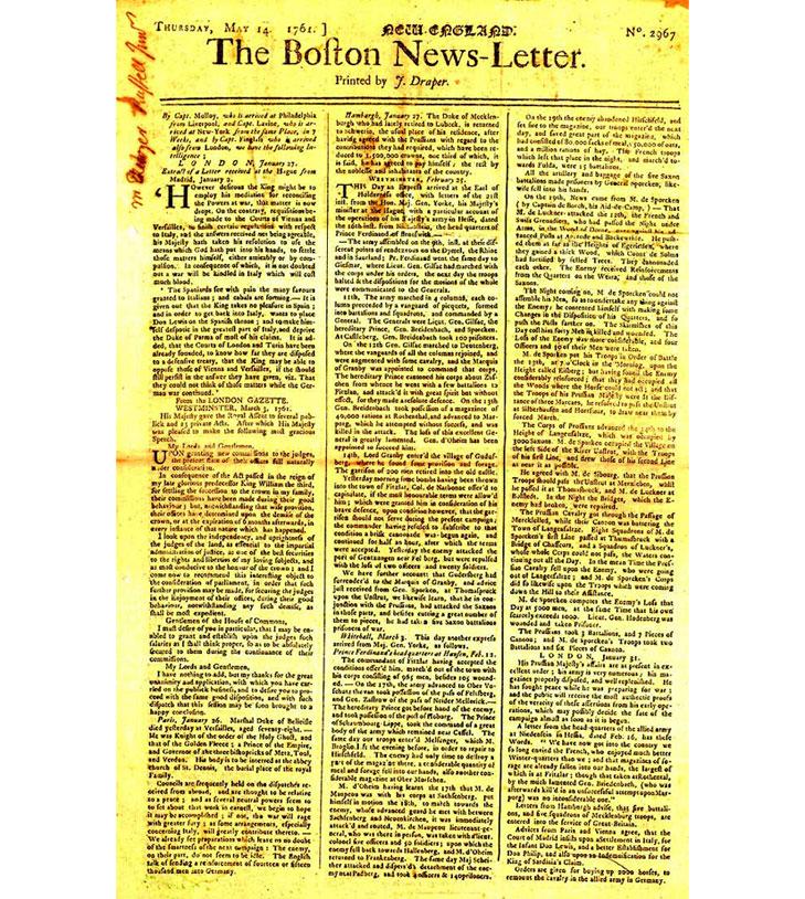 the first successful newspaper in America