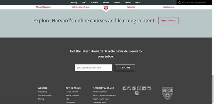 harvard website learning center