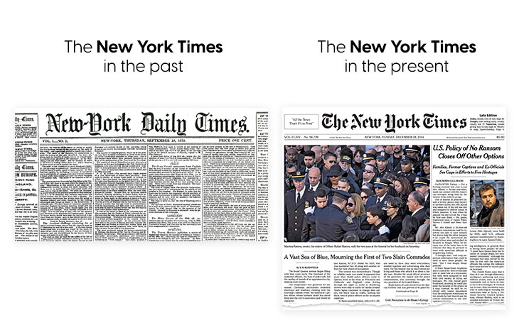 History of newspapers - The New York Times