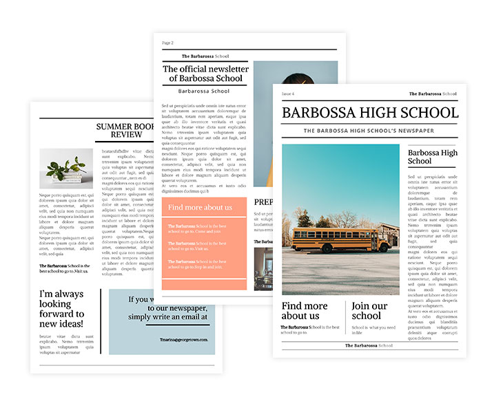 Middle School Newspaper Template