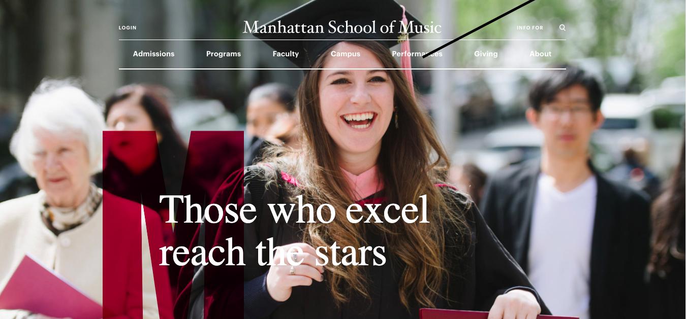Manhattan School of Music website design