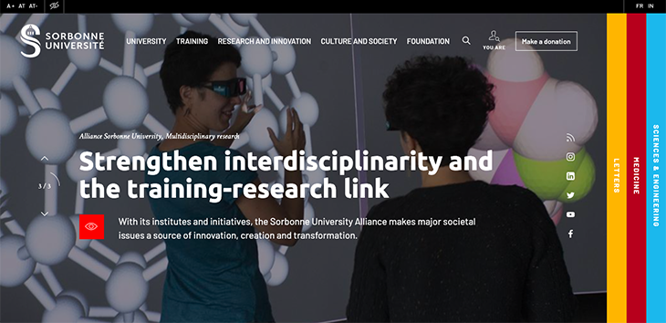 Sorbonne University website
