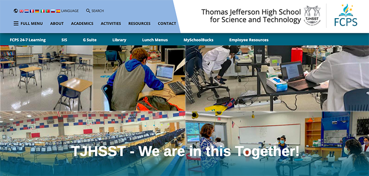 Thomas Jefferson High School for Science and Technology website