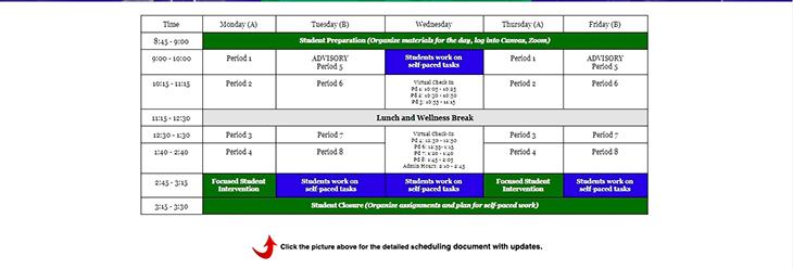 Semester 1 schedule, winston churchill website design