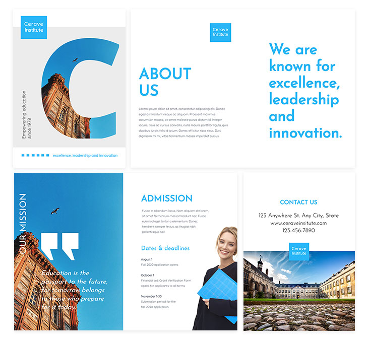 University Educational Brochure Template from Flipsnack