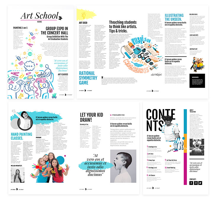 Colorful School Newspaper Template from Flipsnack