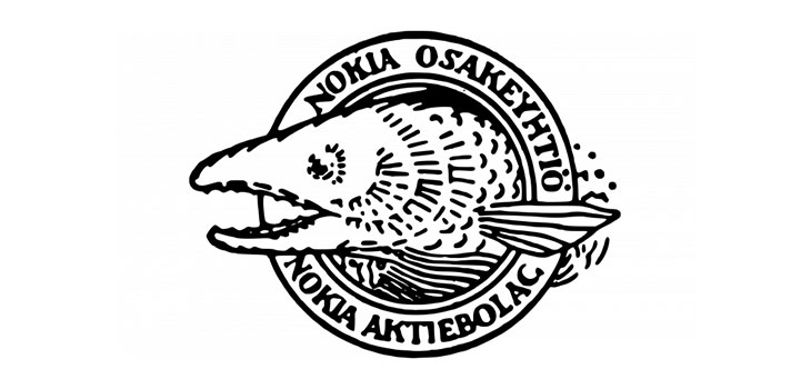 design of first nokia logo