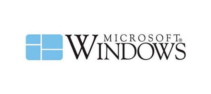 windows first logo design