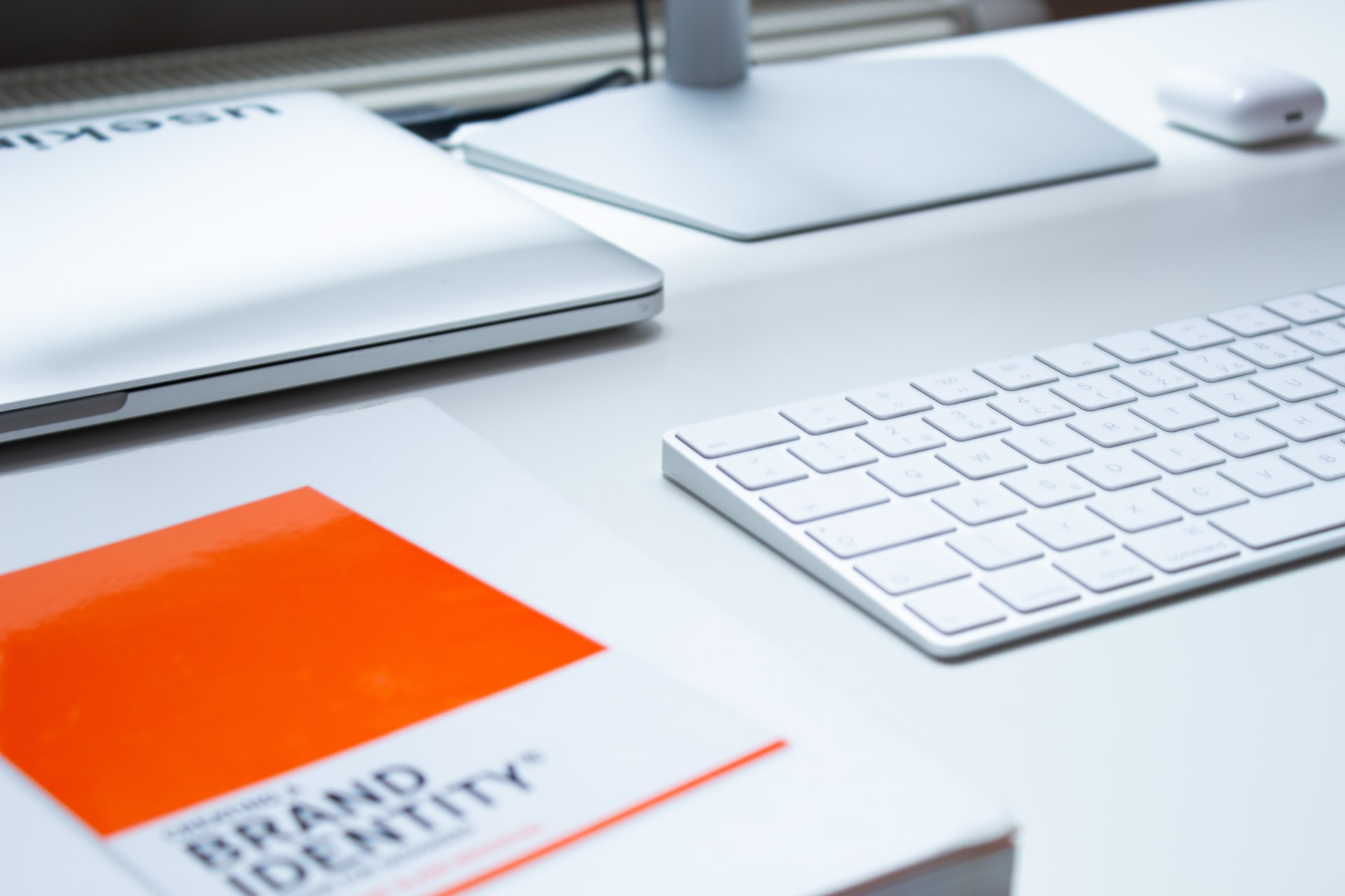 eCommerce brand identity book on a desk