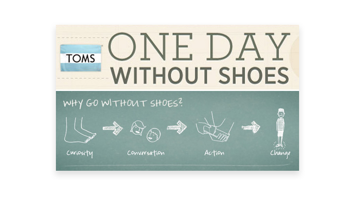 Toms One day without shoes eCommerce brand campaign poster
