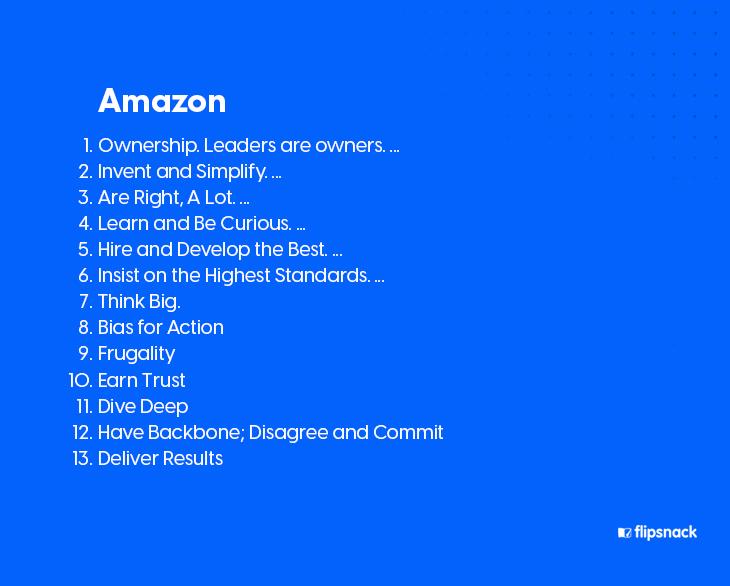 Amazon brand values