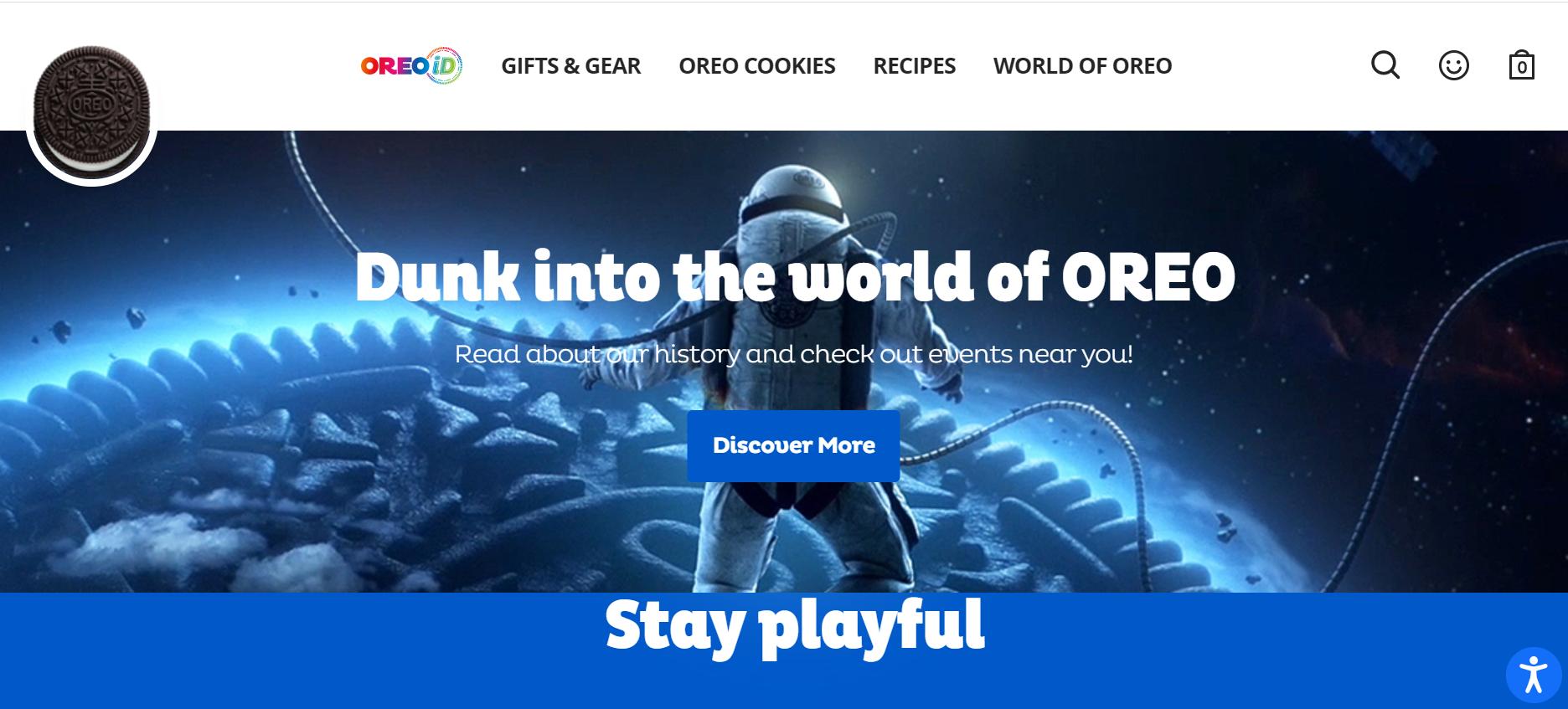 Oreo eCommerce branding website example