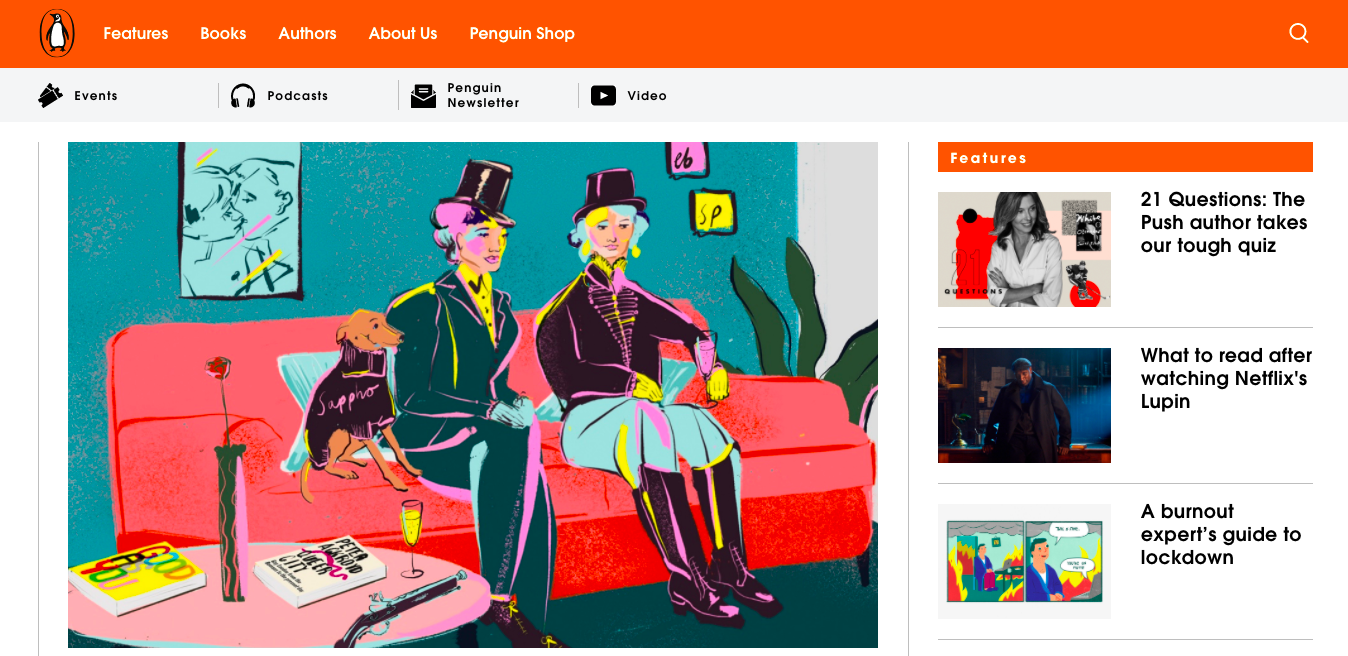 Penguin eCommerce branding website example