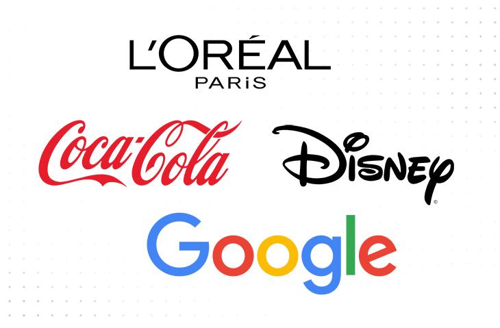 L'oreal and Coca Cola logos