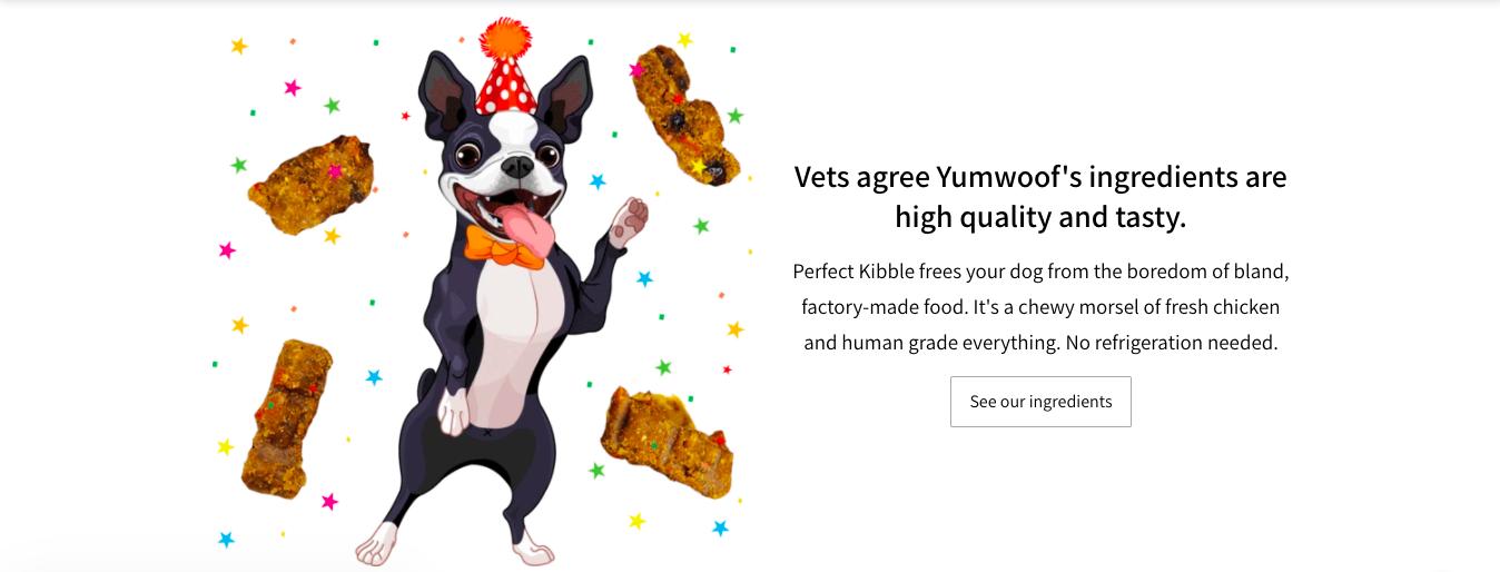 Yumwoof eCommerce branding website example