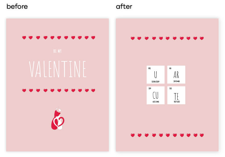 Modern Valentine's Day Card Template and how to edit it in Flipsnack