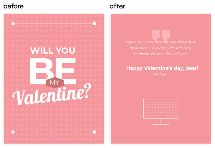 How to edit a Simple Valentines Card Template in Flipsnack