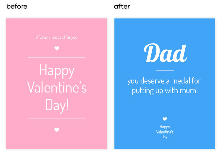 Pink Valentine's Day Card Template