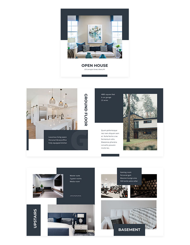 open house brochure template created with Flipsnack's real estate marketing tool