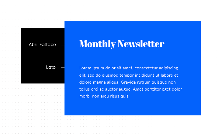 Abril Fatface & Lato best font pairing example