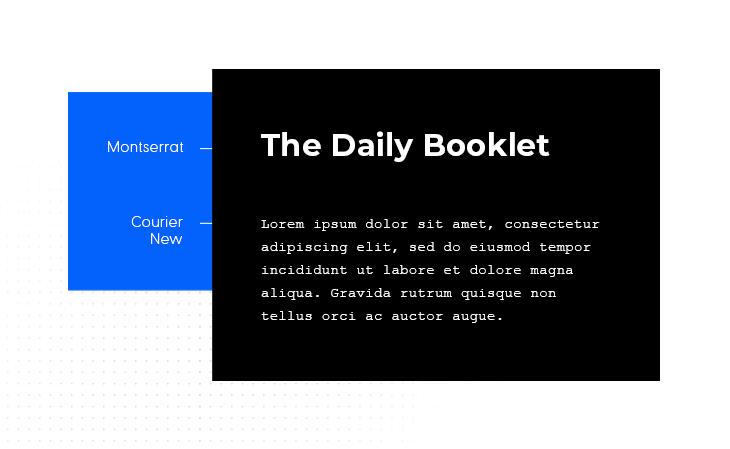 Montserrat & Courier New best font pairing example