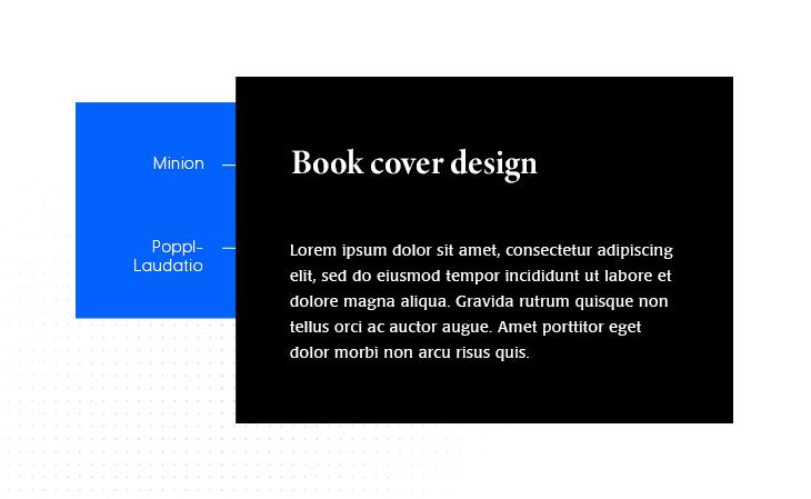 Minion & Poppl-Laudatio google font pair