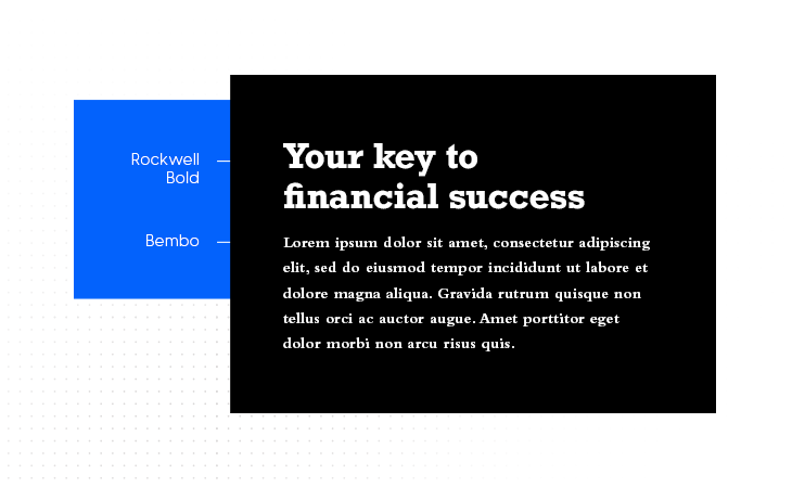 Rockwell Bold & Bembo example of best font pairings