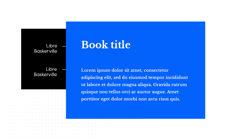Libre Baskerville & Libre Baskerville ebook font pairing example