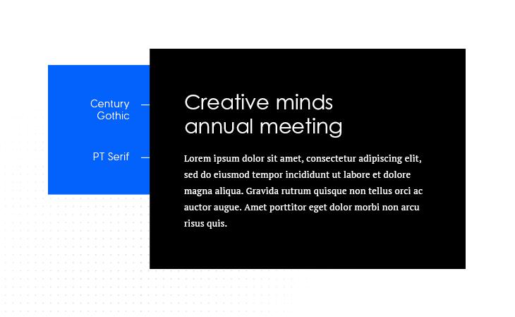 Century Gothic & PT Serif best font pairing example