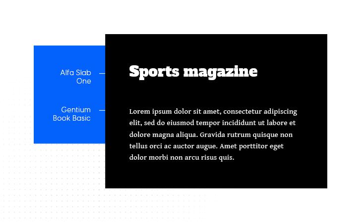 alfa slab one and gentium book basic google font pair