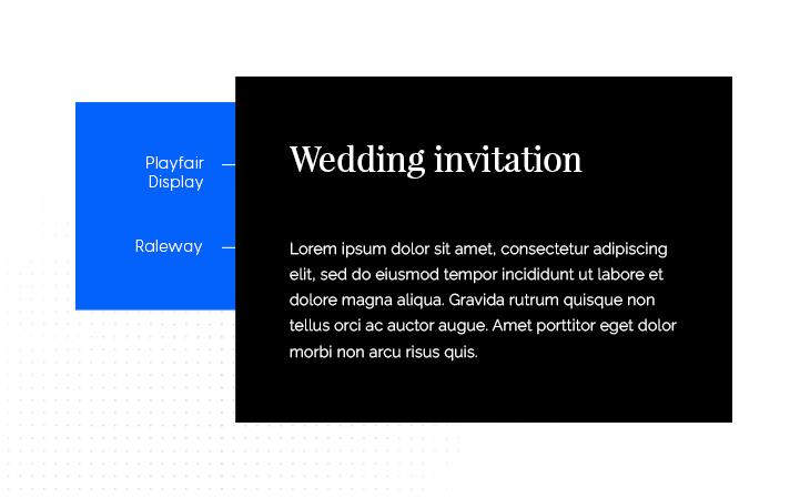 playfair display and raleway font combination