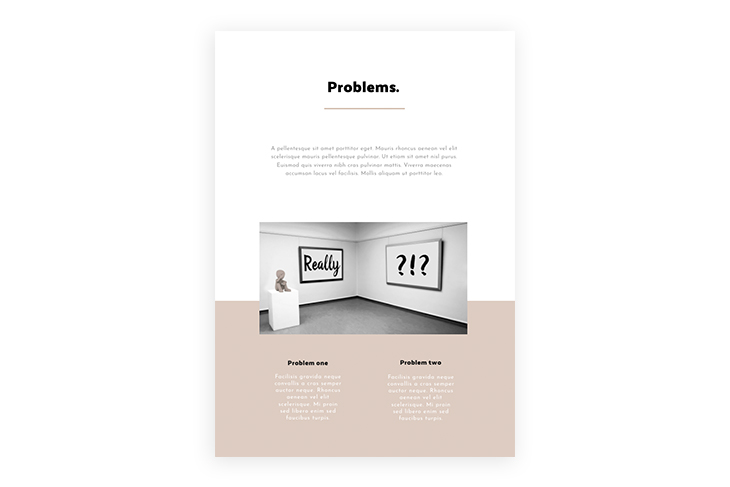 how to write a business proposal - the problem statement