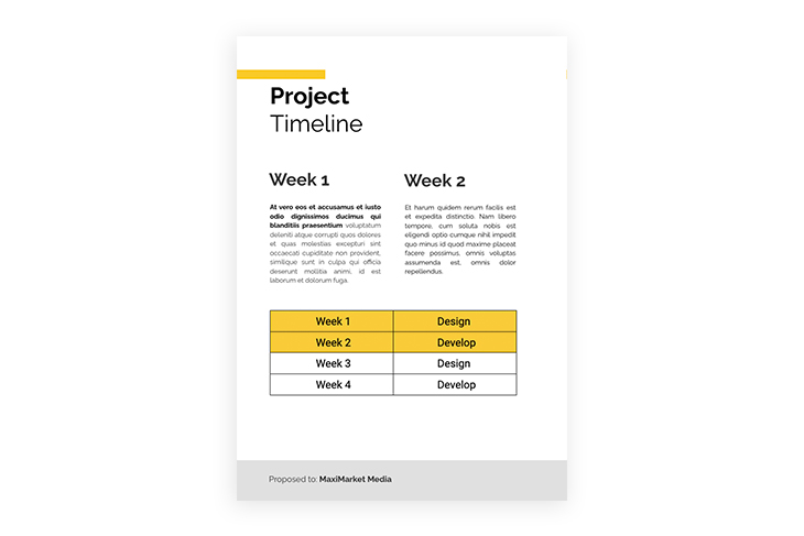example of a project timeline